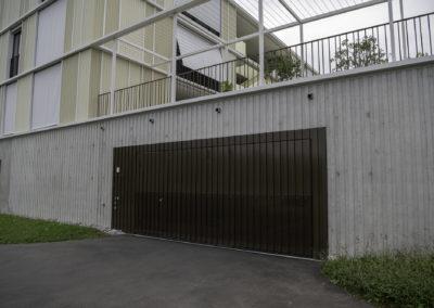 Garageneinfahrt Gossau, Überbauung im Eich