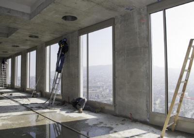 Panoramafenster, Swiss Mill Tower Zürich